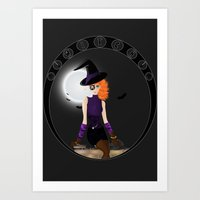 Witch - Vector Art Print