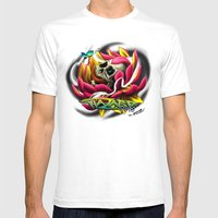 Death Blooms II Mens Fitted Tee White SMALL