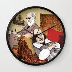 Freud analysing Shakespeare Wall Clock