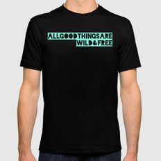 All Good Things Black SMALL Mens Fitted Tee