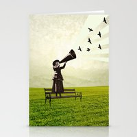 Singing Birds Stationery Cards