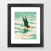 When helping goes bad Framed Art Print