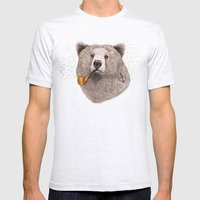Sailor Bear Mens Fitted Tee Ash Grey SMALL