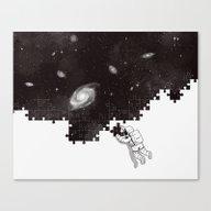 SOLVING THE BIG PUZZLE Canvas Print