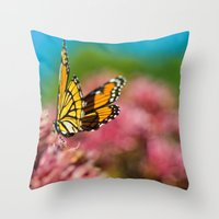 Summer Colors Throw Pillow