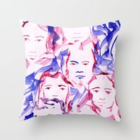 ROSTROS Throw Pillow