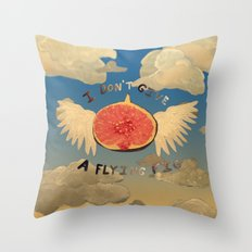 I don't give a flying fig Throw Pillow