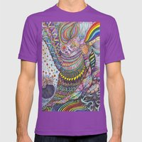 Flower Bomb Mens Fitted Tee Ultraviolet SMALL
