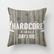 x HARDCORE x Throw Pillow