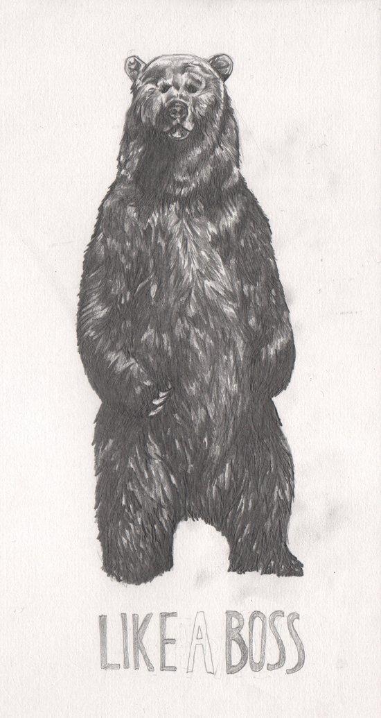 Like a Boss Bear Art Print