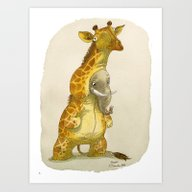 Elephant In A Giraffe Co… Art Print