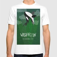 Washington Mens Fitted Tee White SMALL