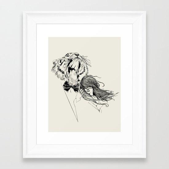 The Tiger's Roar Framed Art Print