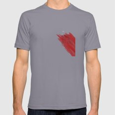 quote: find A beautiful place and get lost Mens Fitted Tee Slate SMALL