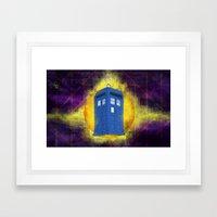 The TARDIS Framed Art Print