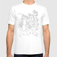 Daab Song Meu Mens Fitted Tee White SMALL