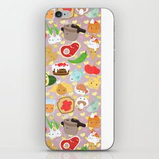 Cute food iPhone & iPod Skin