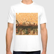 London SMALL White Mens Fitted Tee