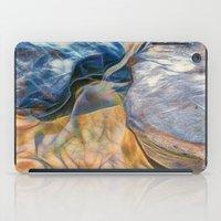Abstract beautiful rocks on the sand iPad Case