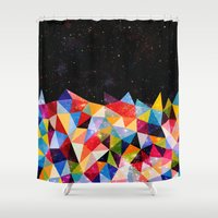 Space Shapes Shower Curtain