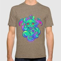 Cthulhu Mens Fitted Tee Tri-Coffee SMALL