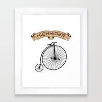 High Rider Framed Art Print
