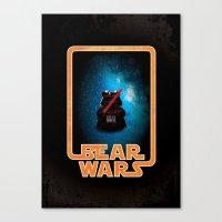 Bear Wars - Darth Teddy Canvas Print