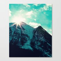 Mountain Starburst Canvas Print