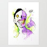 Two-Face Art Print