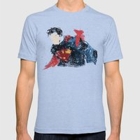 $uperman Mens Fitted Tee Tri-Blue SMALL