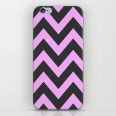 Pink & Charcoal Chevron iPhone & iPod Skin
