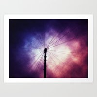 Electric Purple Art Print