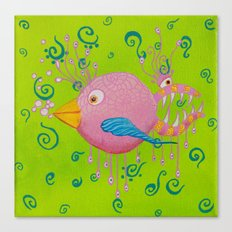 the bird-fish Canvas Print