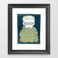 Hipster Beards Framed Art Print
