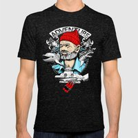 Adventure with Dynamite Mens Fitted Tee Tri-Black SMALL