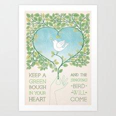 Singing Bird Art Print