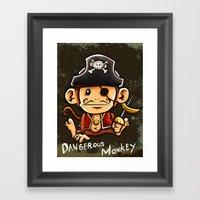 Dangerous Monkey! Framed Art Print