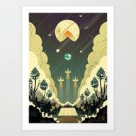 Art Print featuring Death Star Pacman by Natalie Dombois
