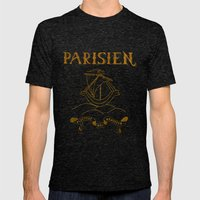 Parisien Mens Fitted Tee Tri-Black SMALL