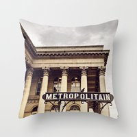 Metropolitain - Paris Metro Sign Throw Pillow