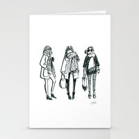 Brush Pen Fashion Illust… Stationery Cards