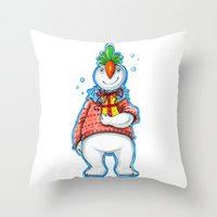 Your Neighbour Snowman Throw Pillow