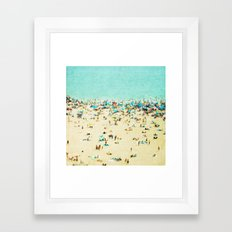 Coney Island Beach Framed Art Print