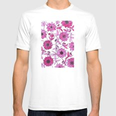 small pink flowers Mens Fitted Tee SMALL White