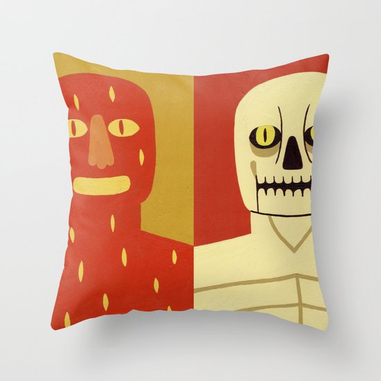 Fire and Bone Throw Pillow