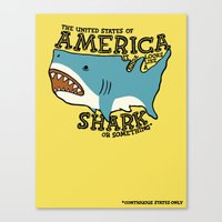 America…   it kinda looks like a shark or something Canvas Print