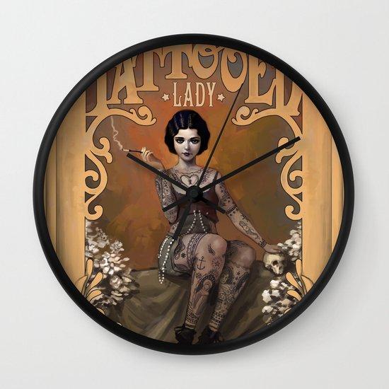 The Amazing Tattooed Lady Wall Clock