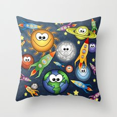 Solar Spaced Out. Throw Pillow