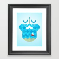 The Bearded Sea Framed Art Print
