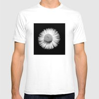 Fleabane B and W Mens Fitted Tee White SMALL